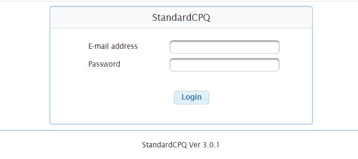 CPQログイン画面の例